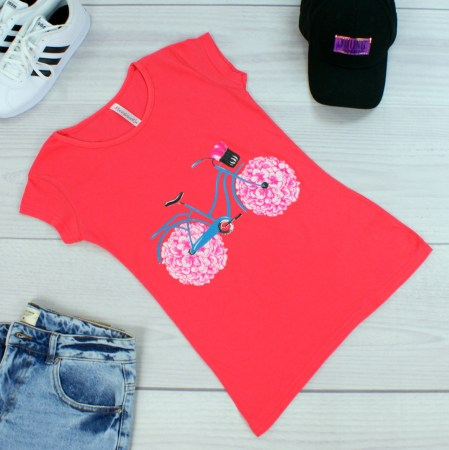 T-shirt damski Bike Rose 1307