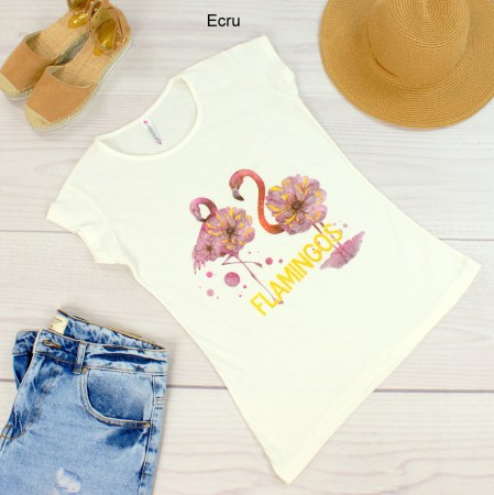 T-shirt damski Two Flamingos Kod 1302
