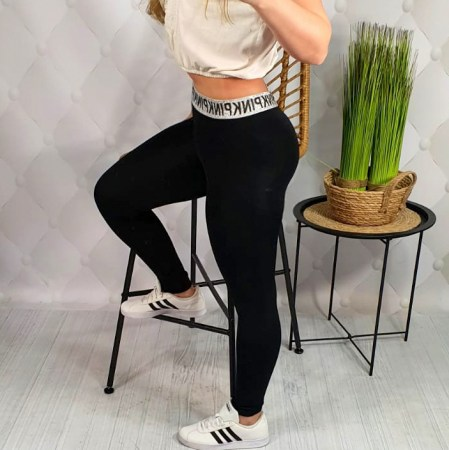 Legginsy LIKRA FITNESS LOVE BLACK