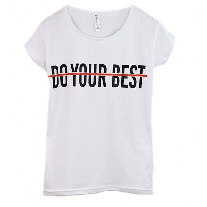 T-shirt damski Do Your Best Kod 1189