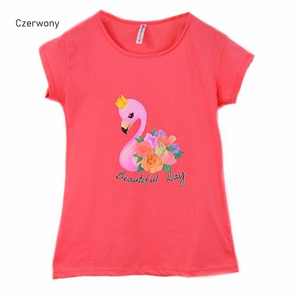 T-shirt damski Pretty Flamingo Kod 1066