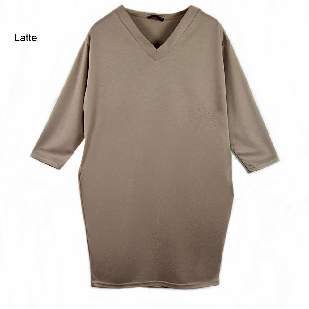 41c2d6f2cbbf50 Sukienka Casual w szpic z Kieszeniami. Rozmiar 44/46
